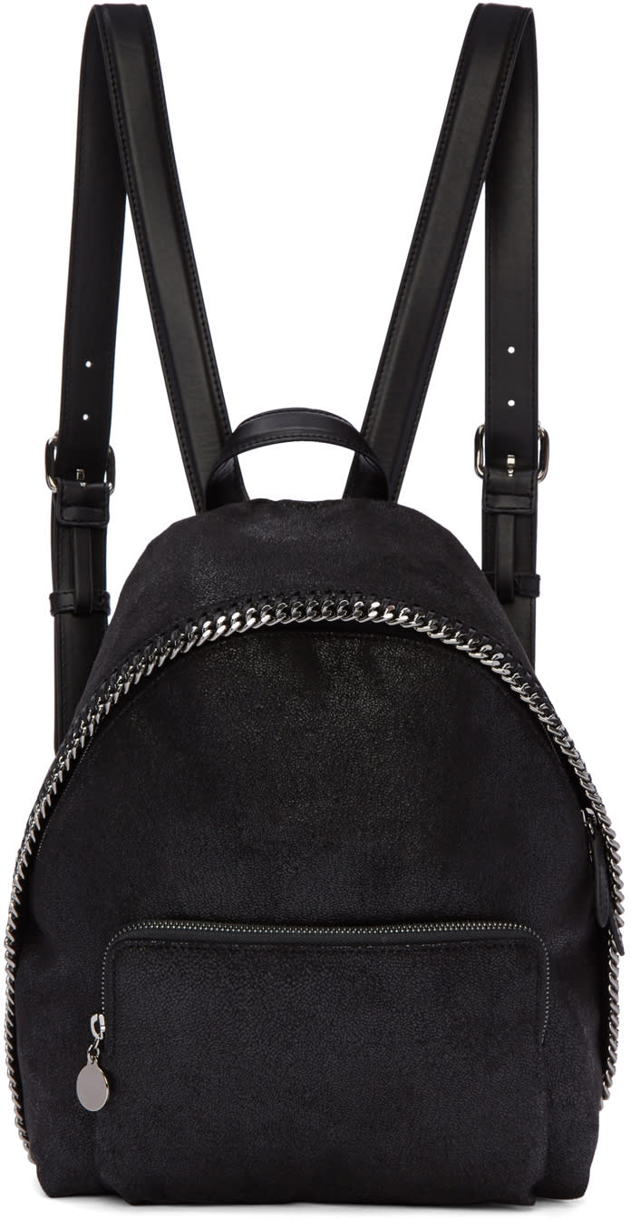 Stella Mccartney Black Small Falabella Backpack