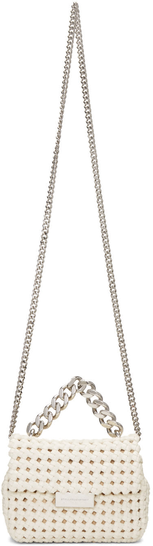 Stella Mccartney Ivory Mini Becks Weaved Bag