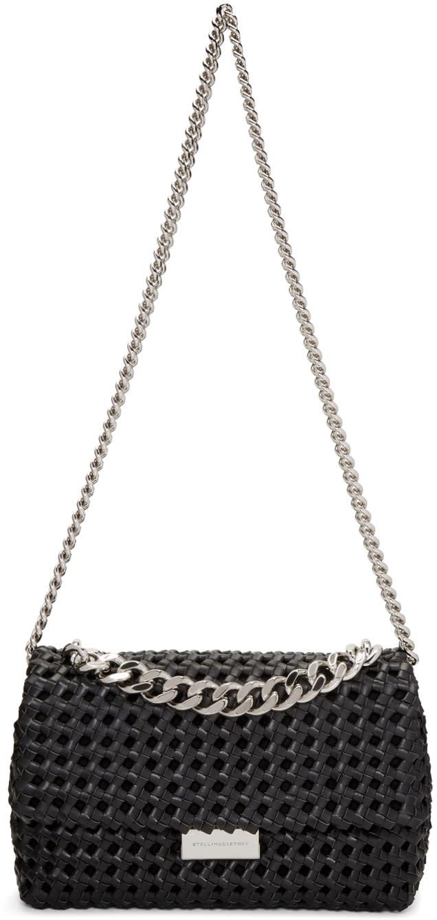 Stella Mccartney Black Becks Weaved Bag