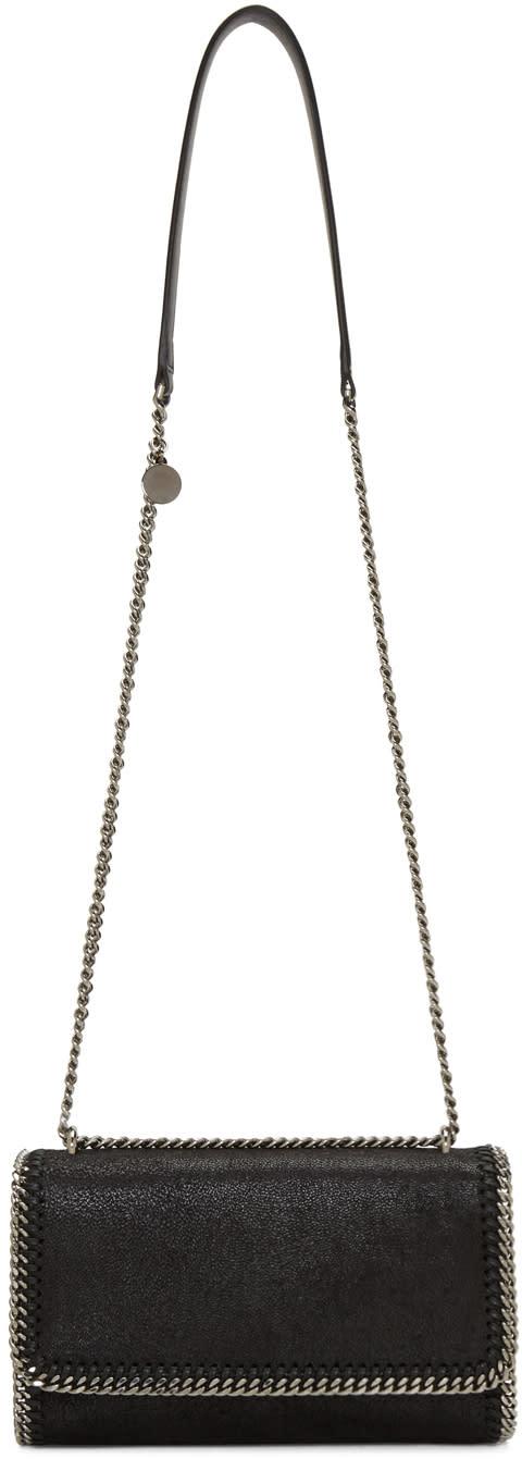 Stella Mccartney Black Chained Flap Shoulder Bag