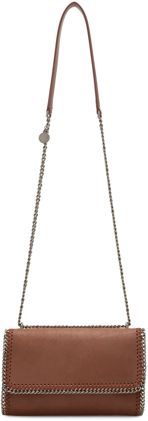 Stella Mccartney Brown Chained Flap Shoulder Bag at SSENSE