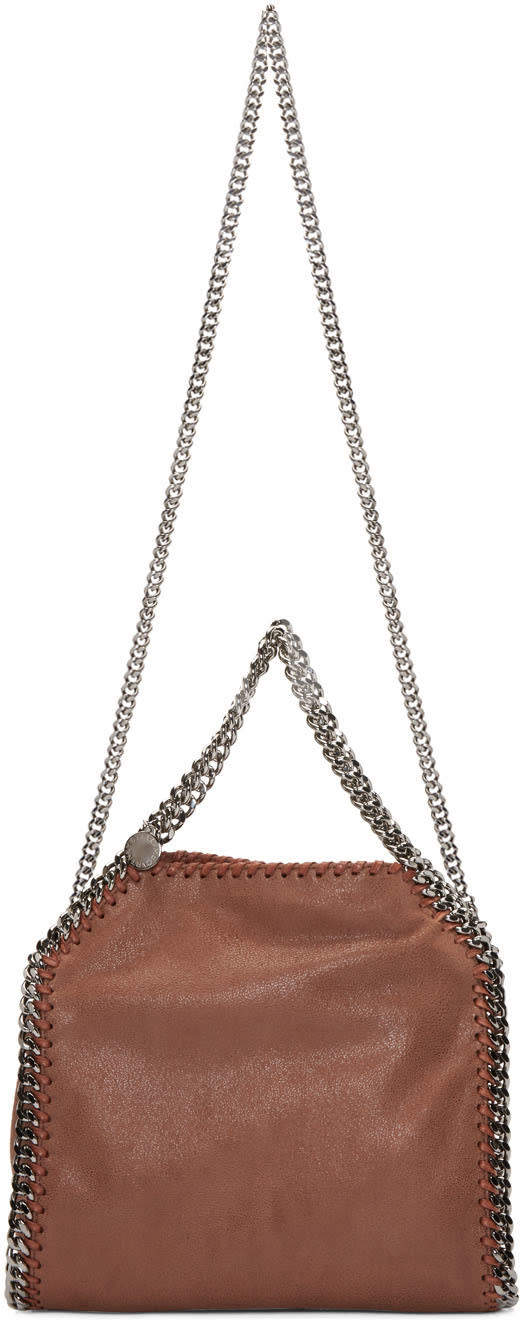 Stella Mccartney Brown Falabella Fold Over Tote
