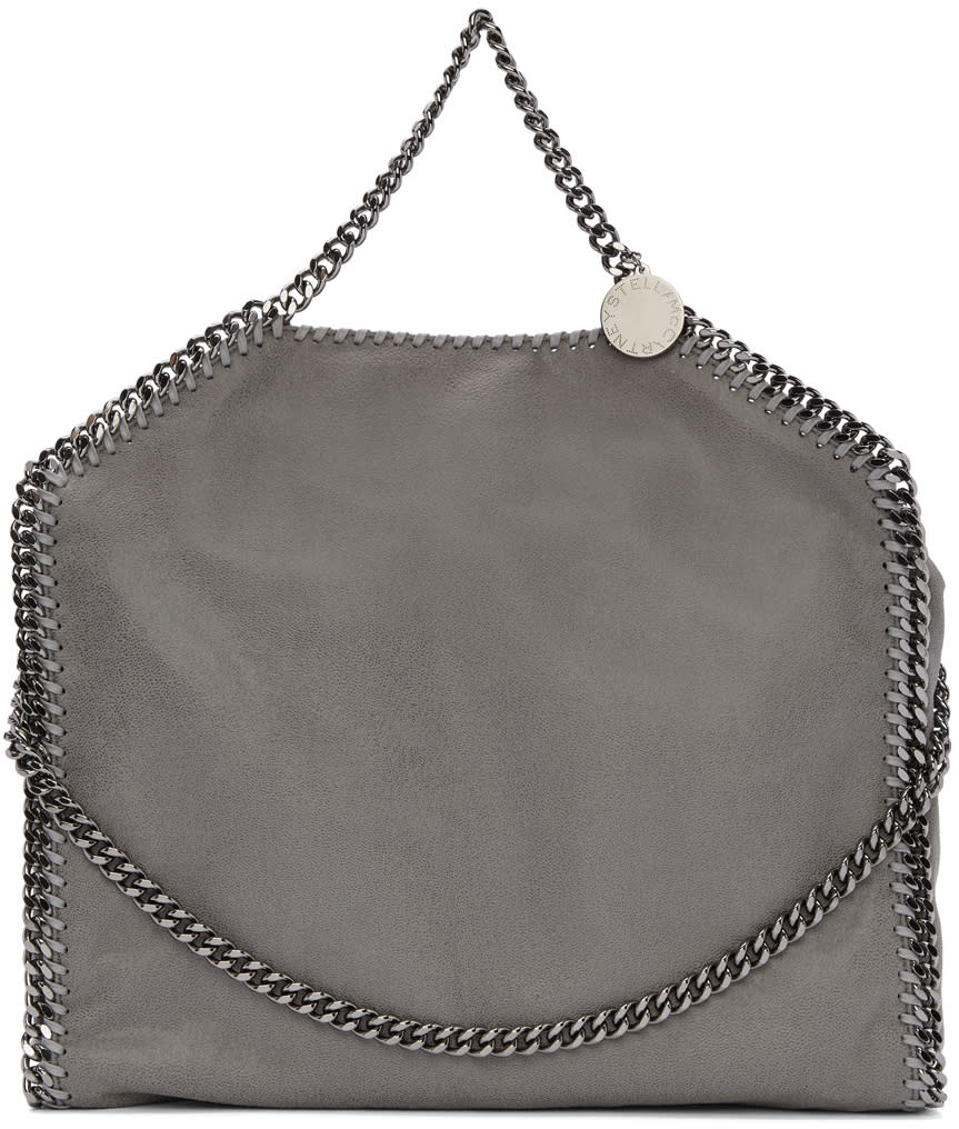 Stella Mccartney Grey Falabella Fold Over Tote