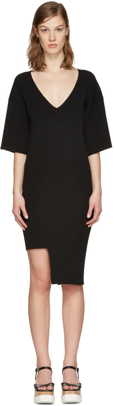 Stella Mccartney Black Ribbed Dress