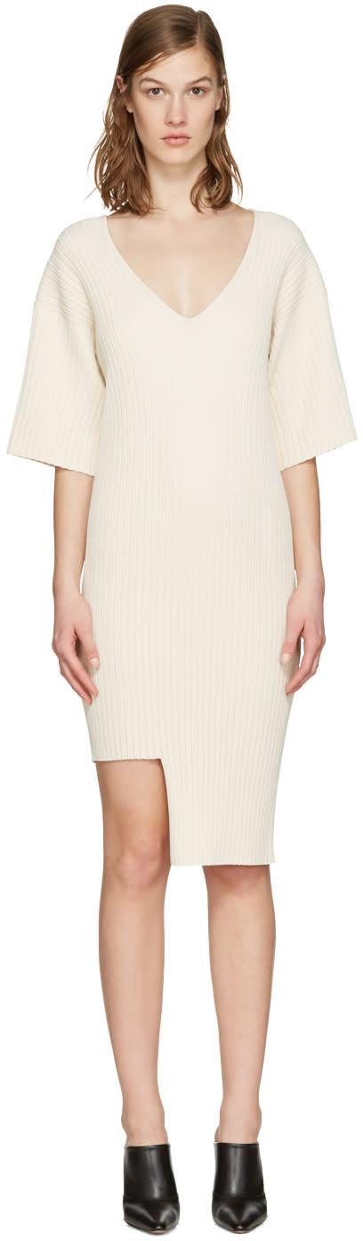 Stella Mccartney Beige Ribbed Dress