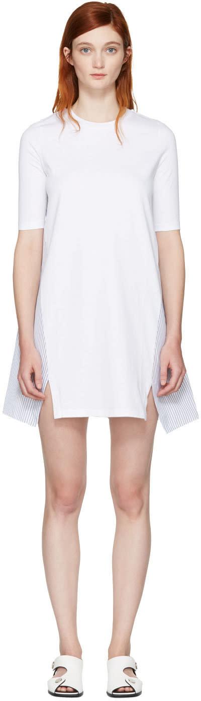 Stella Mccartney White Combo T-shirt Dress