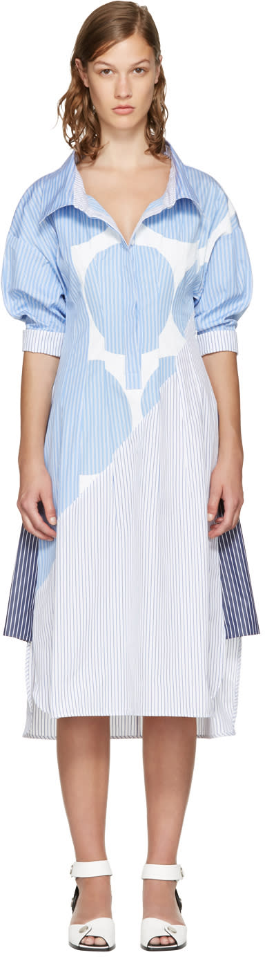 Stella Mccartney Blue Striped Sandrina Dress