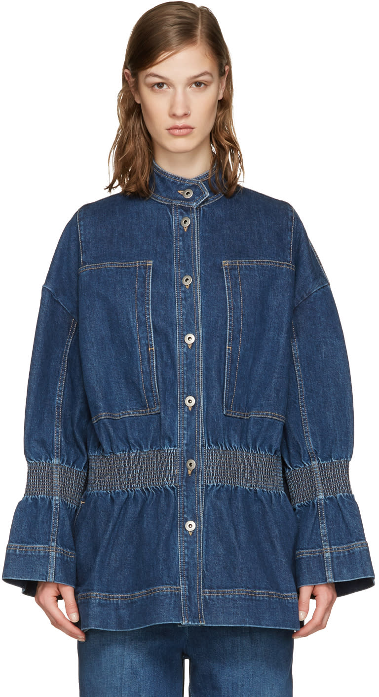 Stella Mccartney Blue Denim City Jacket