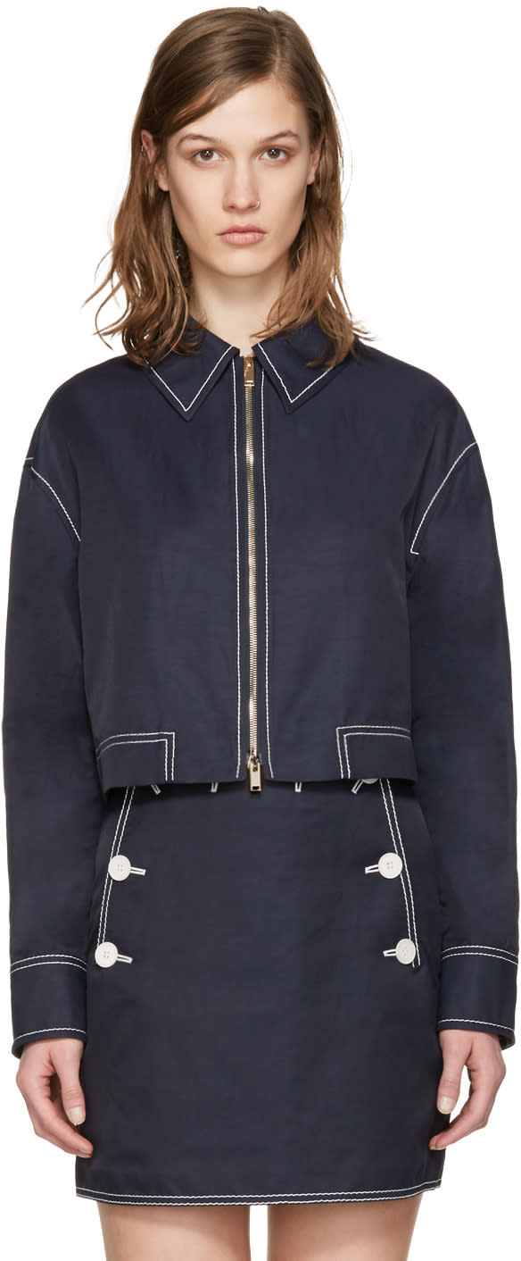 Stella Mccartney Navy Cropped Jacket