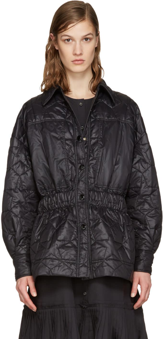 Stella Mccartney Black Quilted Star Jacket