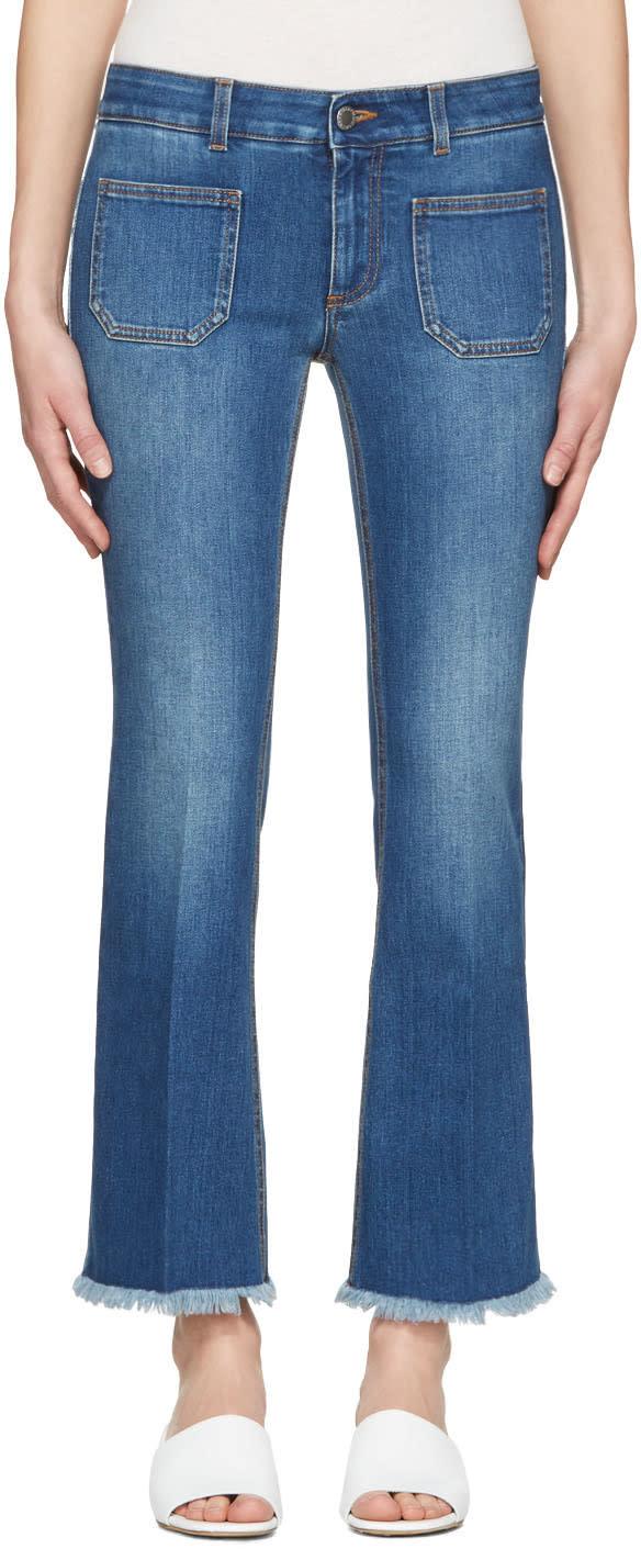Stella Mccartney Blue Skinny Kick Jeans