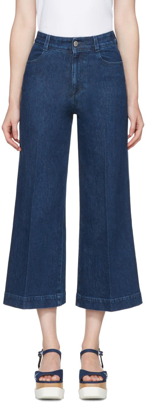 Stella Mccartney Blue Wide-leg Jeans