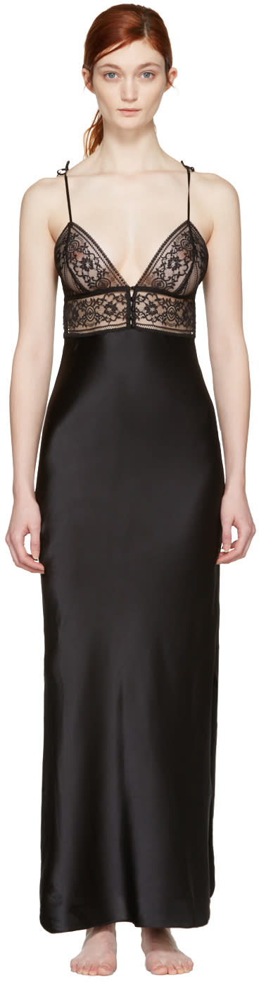 Stella Mccartney Black Ophelia Whistling Nightgown