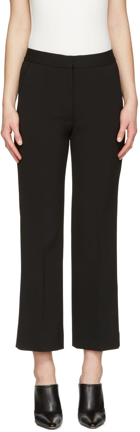 Stella Mccartney Black Crop Flare Trousers