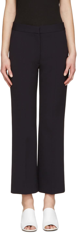 Stella Mccartney Navy Crop Flare Trousers