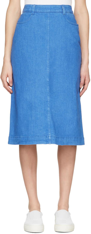 Stella Mccartney Blue Denim Skirt