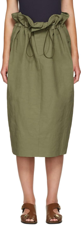 Stella Mccartney Khaki Nyla Skirt