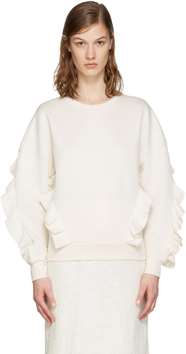 Stella Mccartney Ivory Frills Pullover