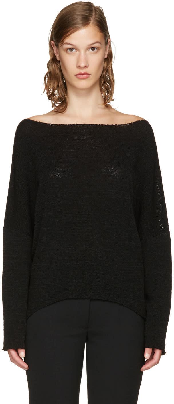 Stella Mccartney Black Chunky Stitch Sweater