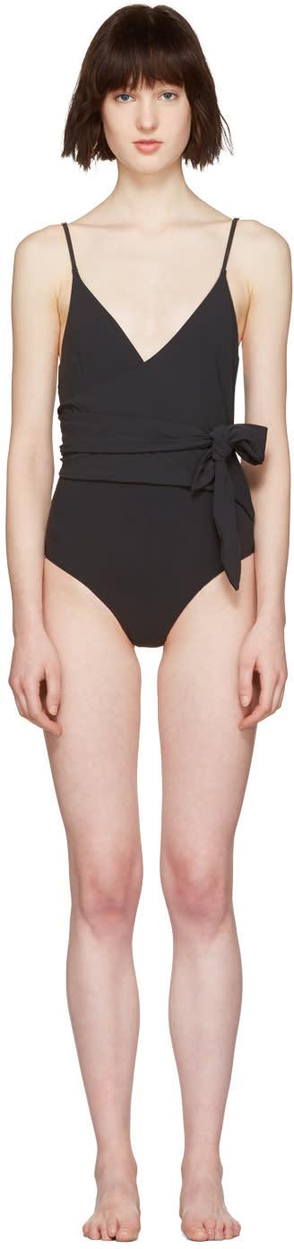 Stella Mccartney Black Wrap Timeless Swimsuit