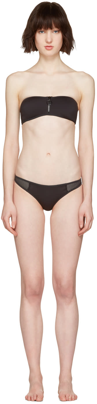 Stella Mccartney Black Neoprene and Mesh Bikini
