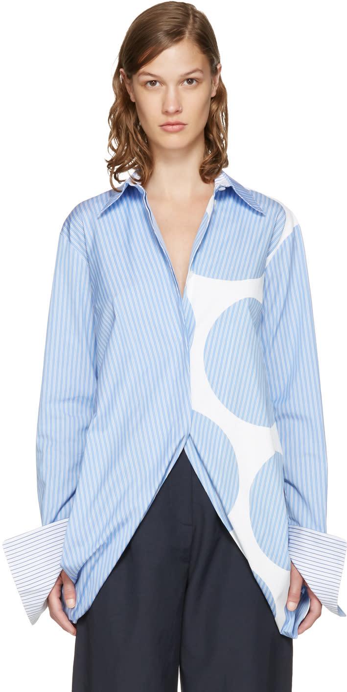 Stella Mccartney Blue Striped Manuela Shirt