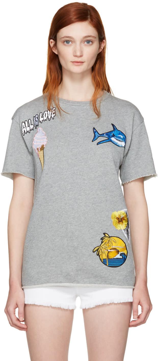Stella Mccartney Grey all Is Love T-shirt