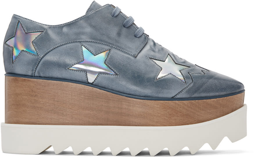 Stella Mccartney Blue Platform Star Elyse Derbys