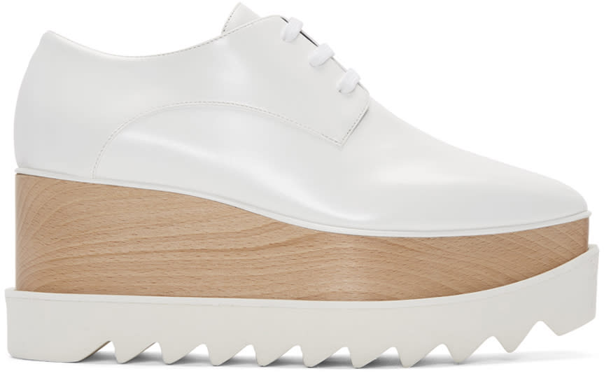 Stella Mccartney White Platform Elyse Derbys