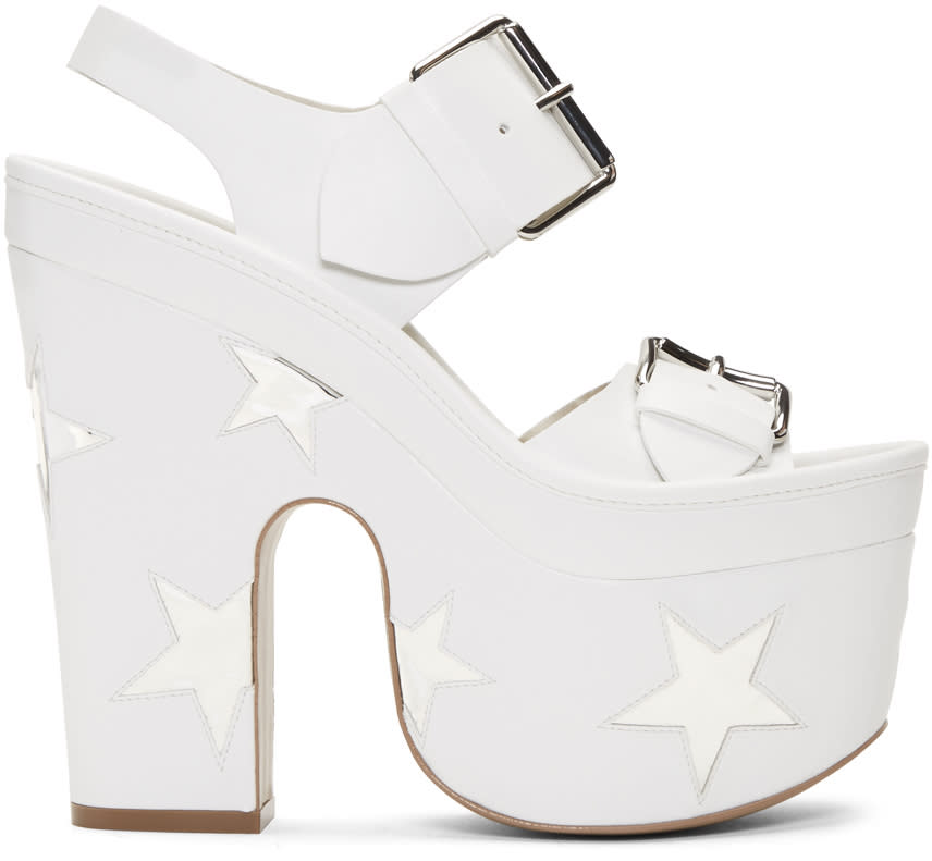 Stella Mccartney White Star Sandals