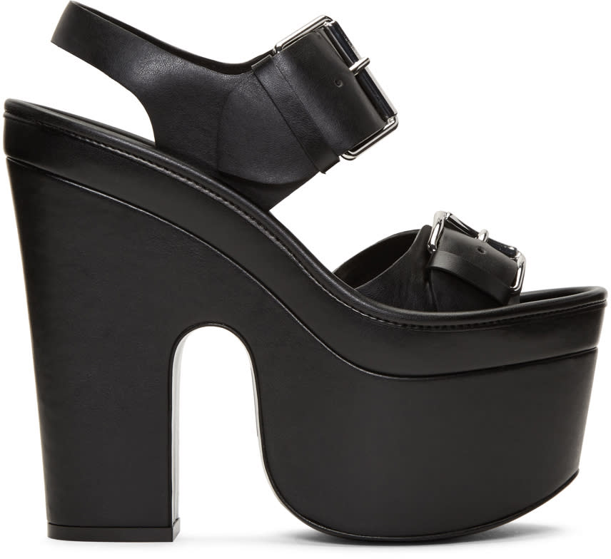 Stella Mccartney Black Platform Buckles Sandals
