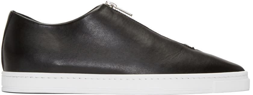 Stella Mccartney Black Medusa Zip Sneakers