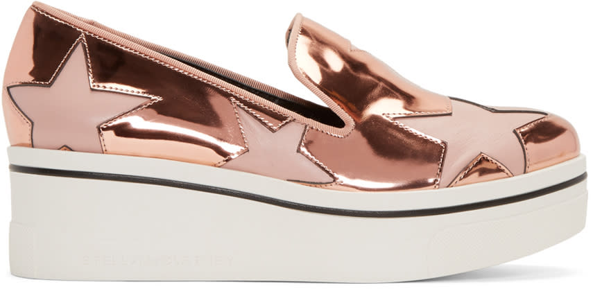 Stella Mccartney Copper Star Platform Binx Sneakers
