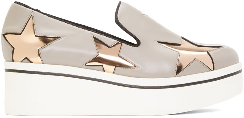 Stella Mccartney Grey Star Binx Sneakers