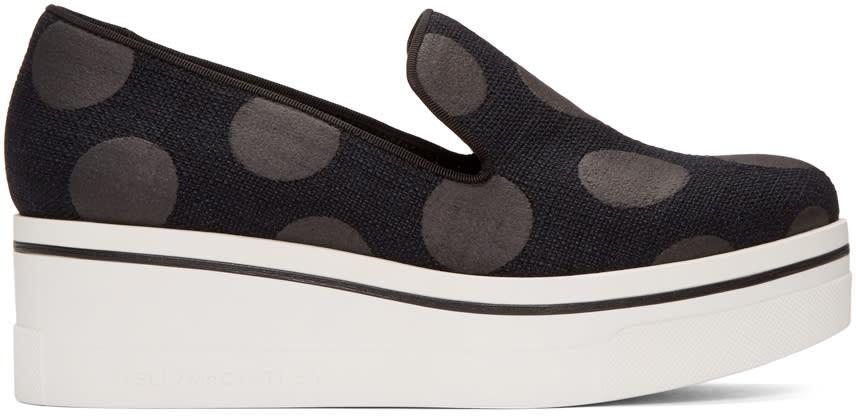 Stella Mccartney Black Polka Dot Binx Sneakers