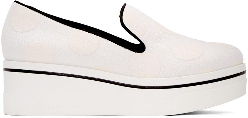 Stella Mccartney White Binx Polka Dot Sneakers