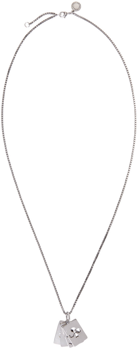 Stella Mccartney Silver Cards Necklace