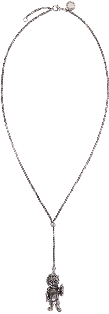Stella Mccartney Silver Cat Necklace