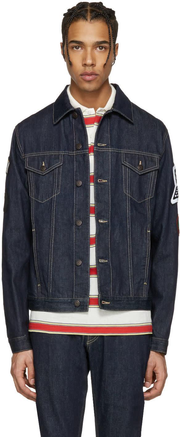 Stella Mccartney Navy Denim Embroidered tomorrow Jacket
