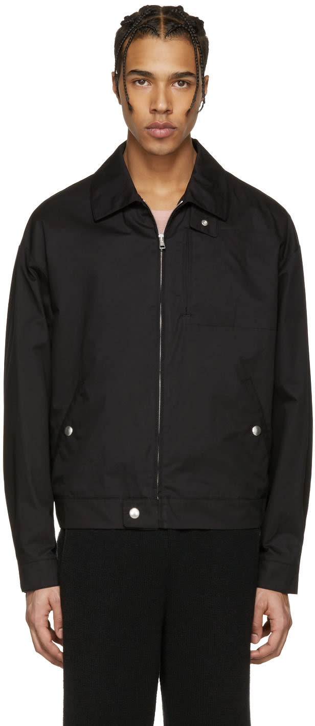 Stella Mccartney Black Cotton Birds Jacket