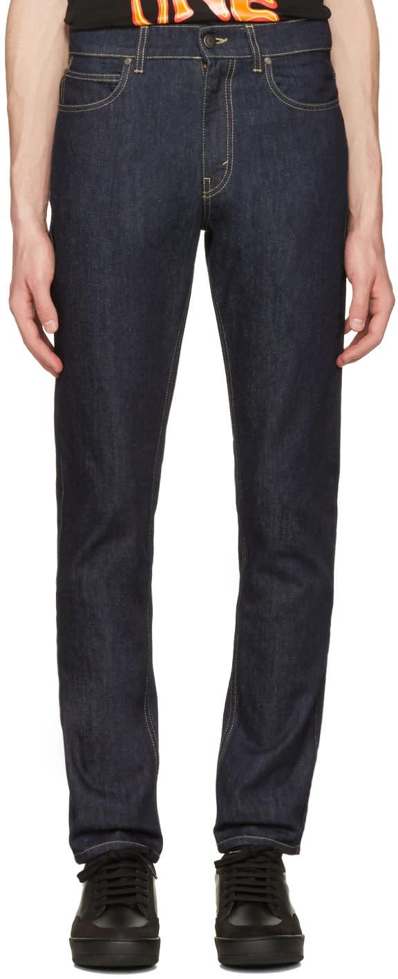 Stella Mccartney Navy Straight Leg Jeans