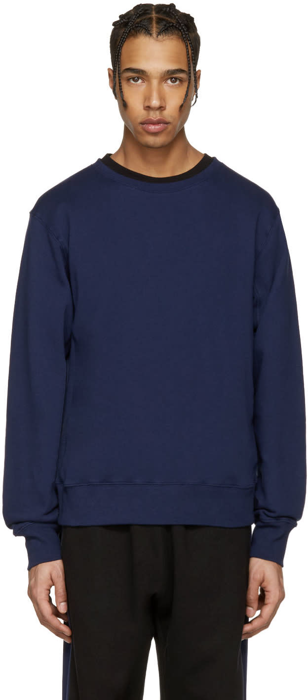 Stella Mccartney Navy Embroidered Back Pullover