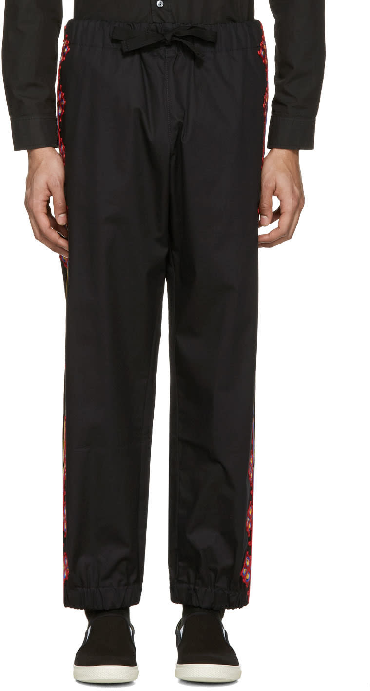Stella Mccartney Black Embroidered Trousers