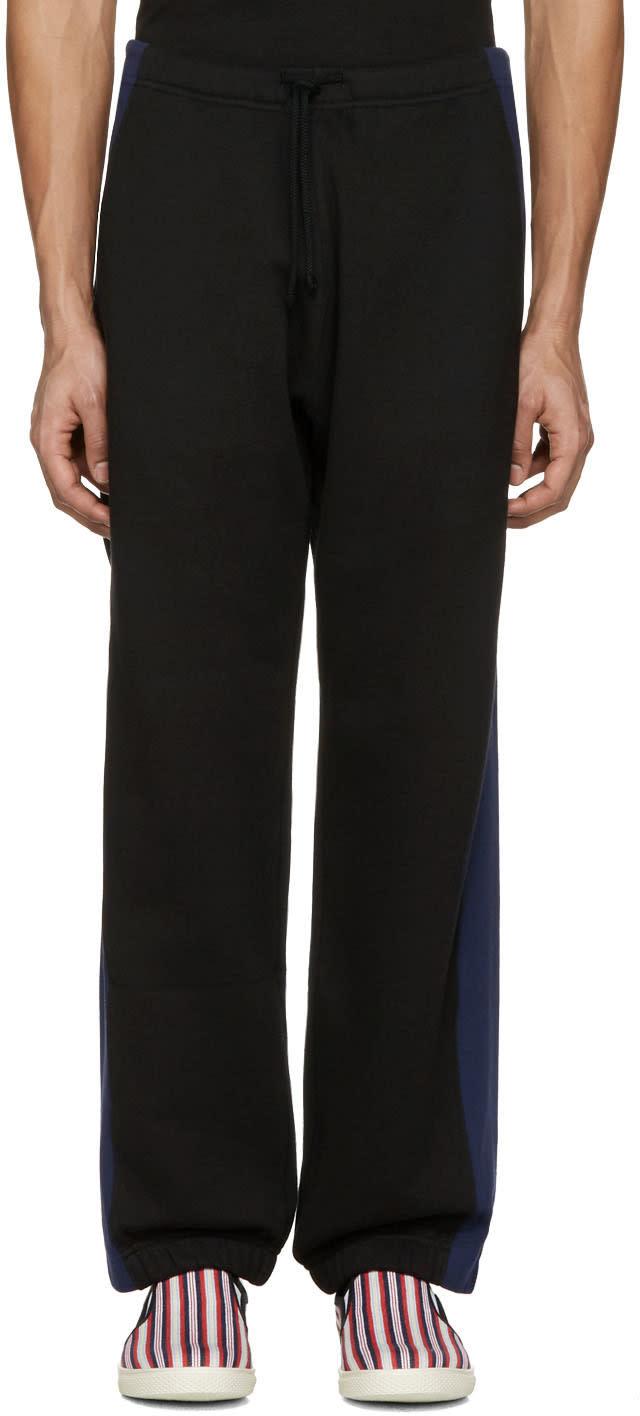 Stella Mccartney ブラック オーバーサイズ サイド ストライプ ラウンジ パンツ