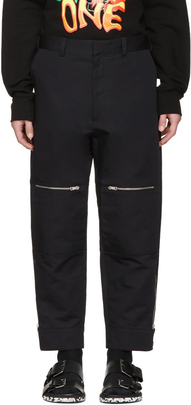 Stella Mccartney Black Zip Pocket Wide-leg Trousers