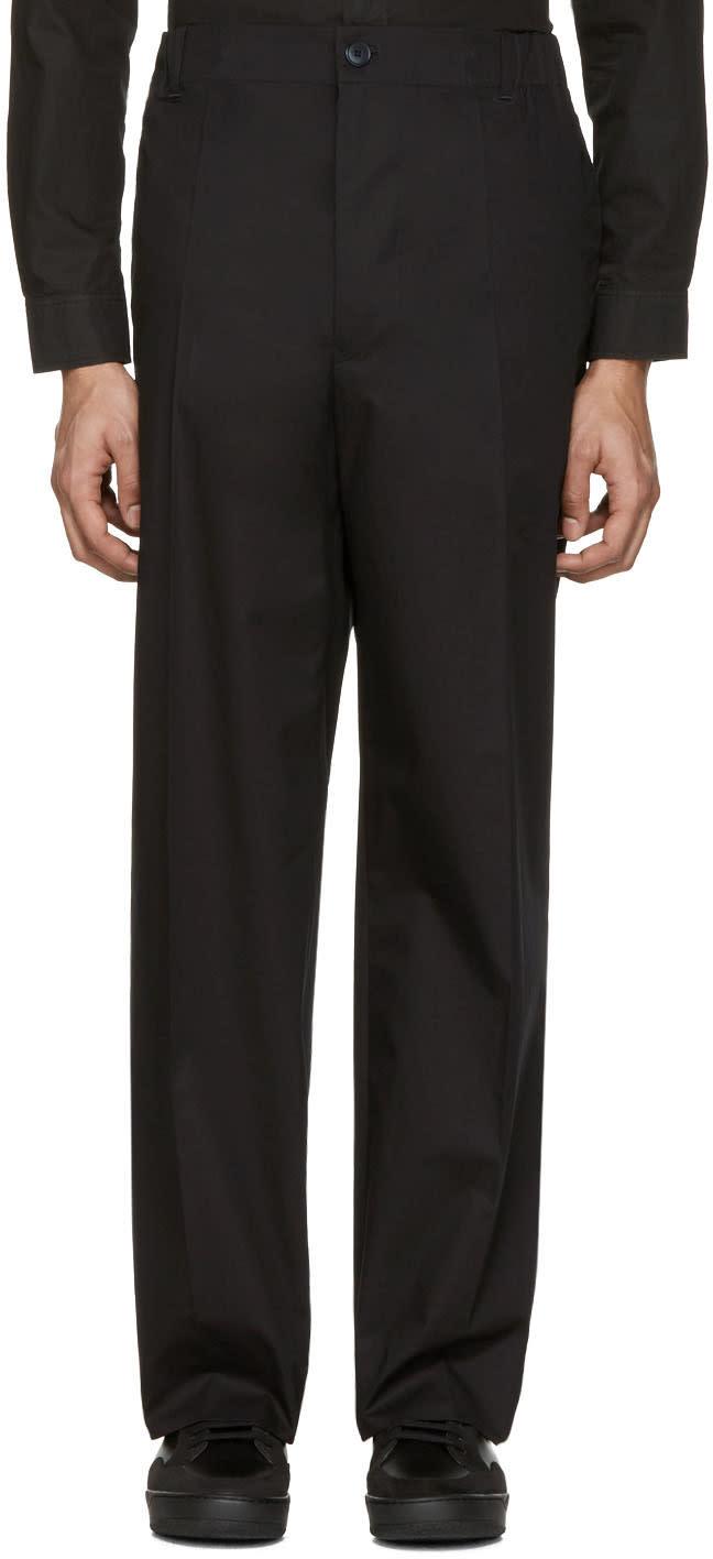 Stella Mccartney Black Wide-leg Pleated Trousers