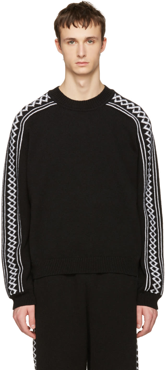 Stella Mccartney Black Rustic Sportswear Pullover