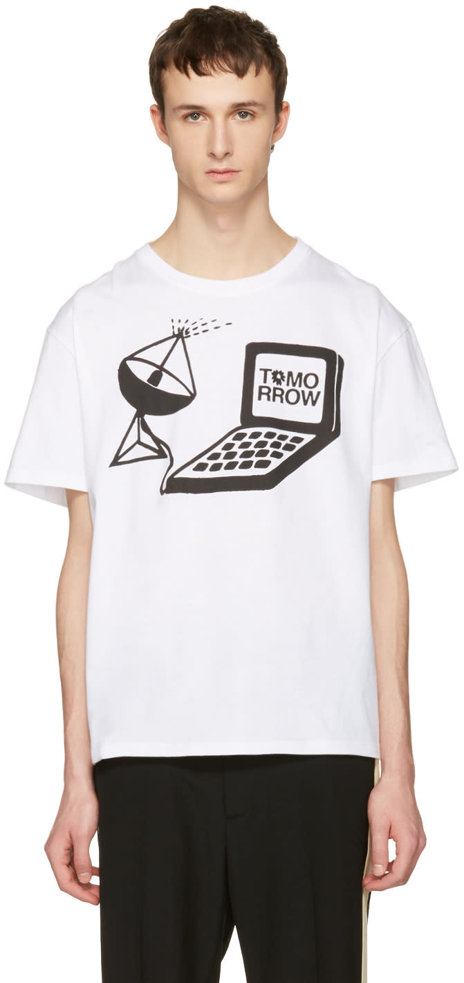 Stella Mccartney White Tomorrow Computer T-shirt