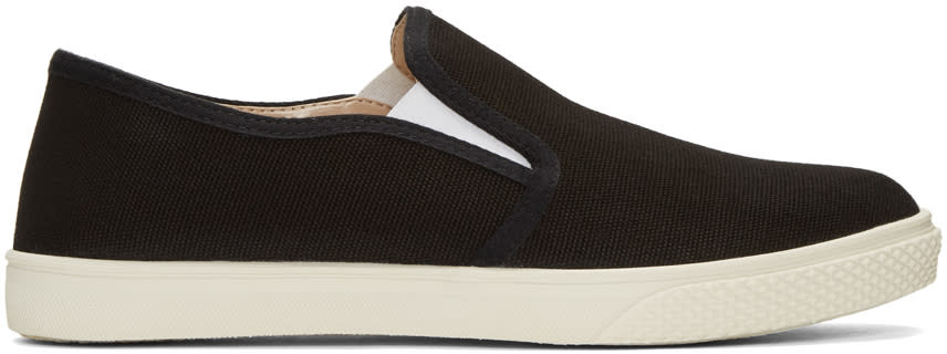 Stella Mccartney Black Canvas Slip-on Sneakers