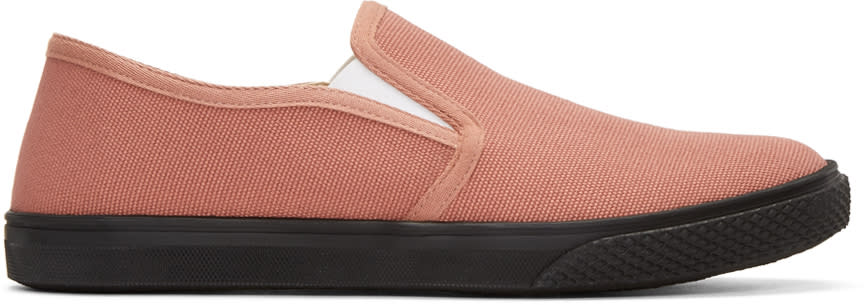 Stella Mccartney Pink Canvas Slip-on Sneakers